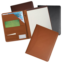 Burgundy, Navy Blue and Tan Leather Business Padfolios